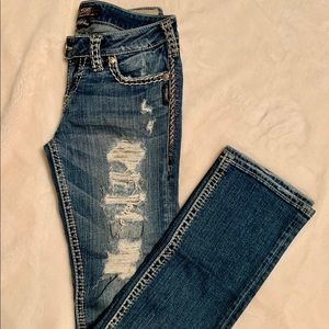 Silver Tuesday Straight Leg Jeans